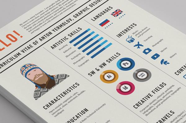 CV Resume Curriculum Vitae infographic Self Promotion personal