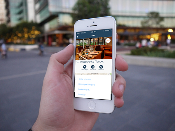 search business local offers promotions app ios prototype
