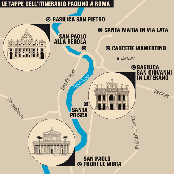 Il Intelligence in Lifestyle magazine Gran Tour map infographic
