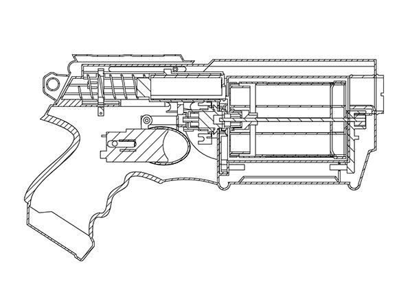 Solidworks Nerf Gun on Behance