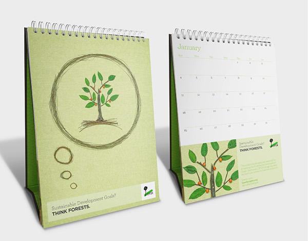 Calendar Design Behance : Cifor desk calendar illustration design on behance