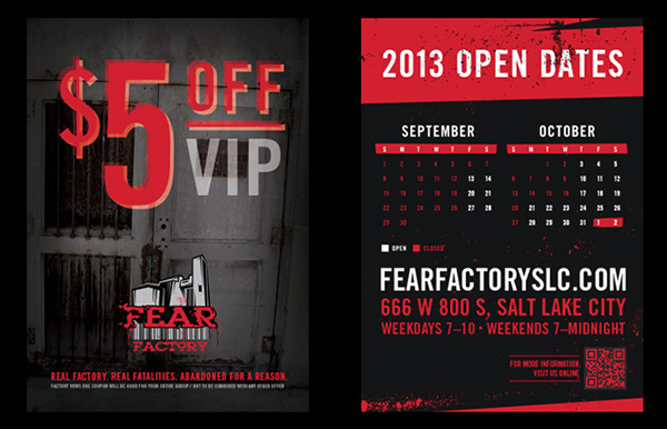 Fear factory coupons