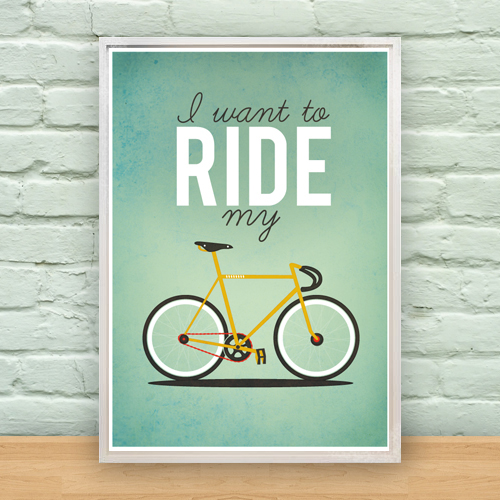 I Want To Ride My Bicycle A2 Poster On Behance