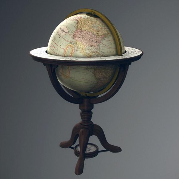 Vintage old world globe free download 3d model obj on behance freerunsca Gallery