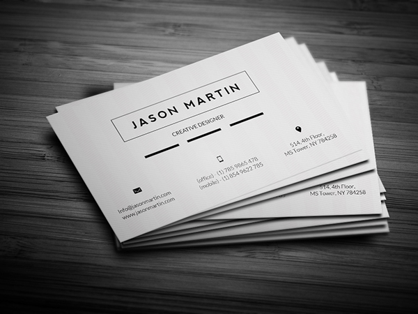 Super flat corporate business card on behance download it here colourmoves