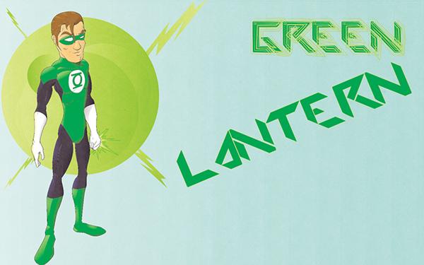 Green Lantern car skateboarder