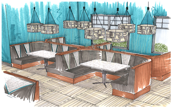 Barber Shop Kalamazoo : Interior Design Presentation Boards also Interior Design Presentation ...
