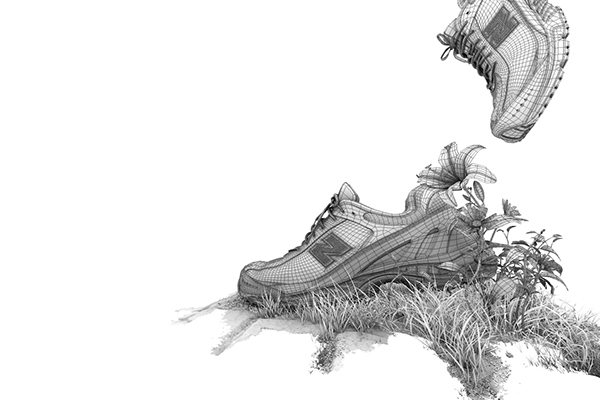 New Balance timelapse nuke Maya after effects running green running sneaker plants environmentally friendly eco green
