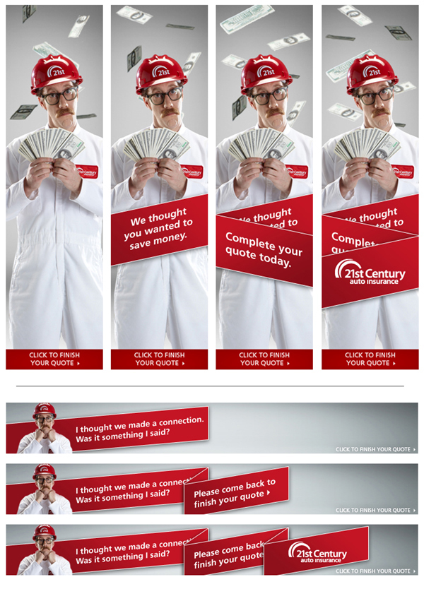 21st Century Auto Insurance Retargeting Banners on Behance