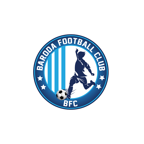 logo design baroda football academy on behance