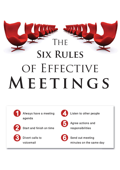 Meeting Room Etiquette Signs