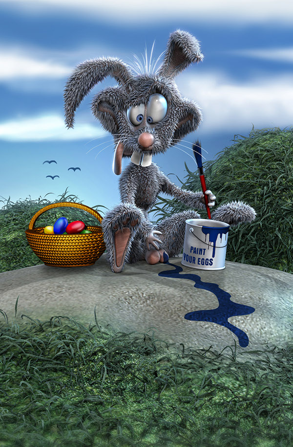 funny easter bunny on behance
