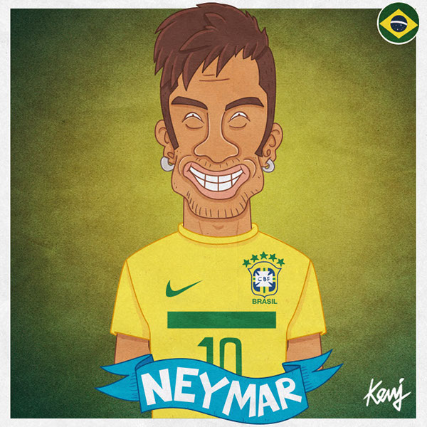 82 soccer players in cartoons on behance