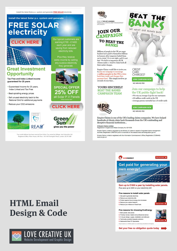 love creative uk html email design build on behance