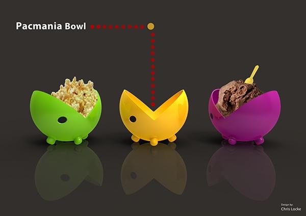 chrislocke Pacman bowl ice cream Food