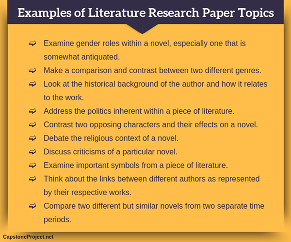 literature based research paper topics