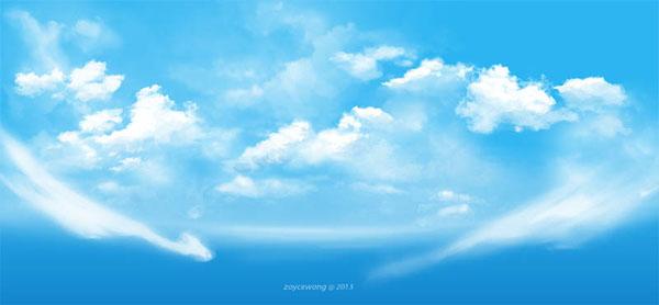 digital illustration SKY clouds