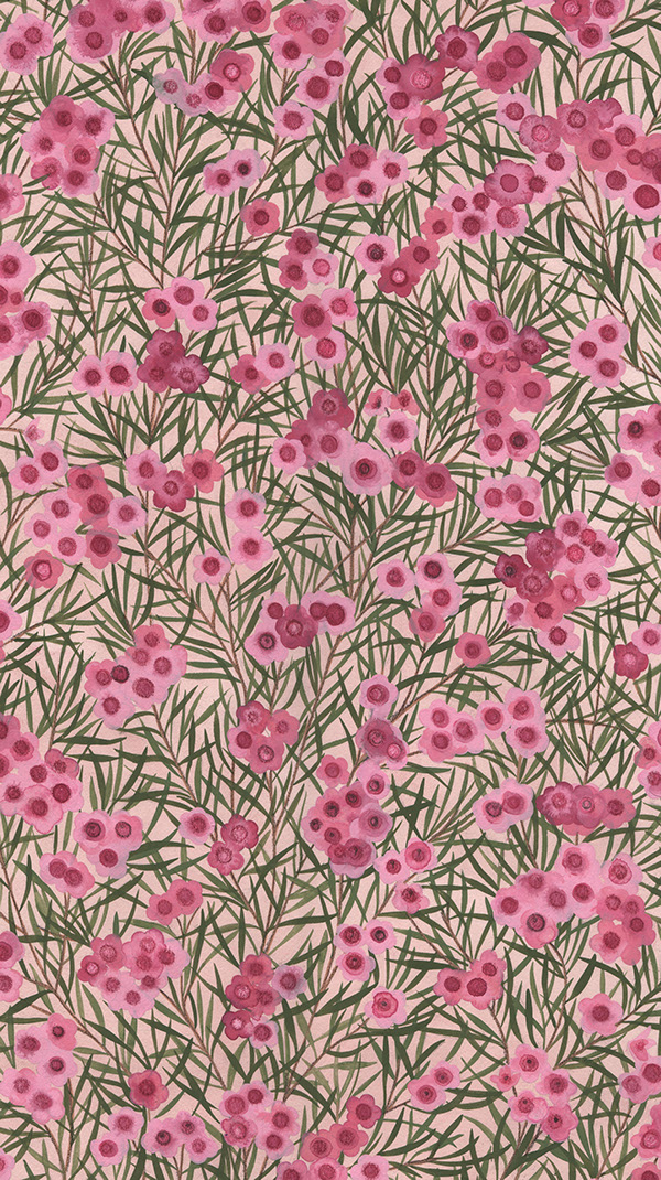Bolt Fabric Quilting Fabric gouache Floral Designs eucalyptus Hand Painted