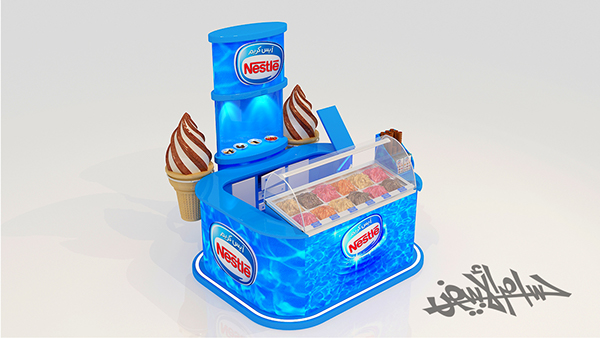 Exhibition Stand Modules : Nestle ice cream booth stand on behance