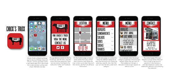 Chuck 39 s food truck app on student show for Food truck design app