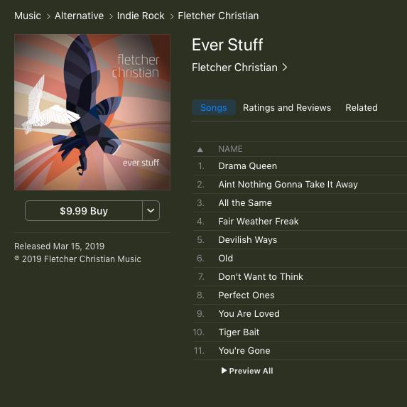 owl Fletcher Christian Album rock blues digital Distressed