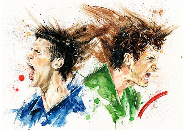 breaking bad dexter Michael Jordan Sopranos Ronaldo football tennis portrait tv watercolor rooney sports Show heisenberg colors