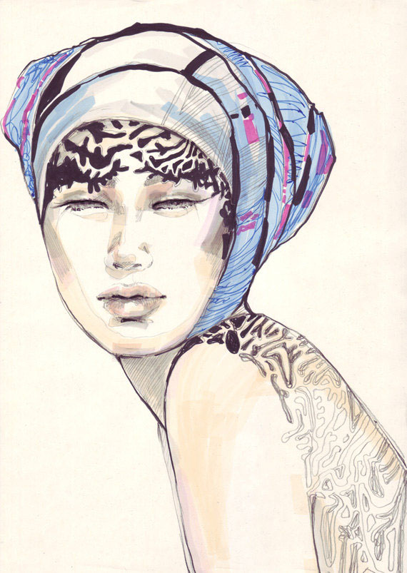 Fashion Portrait Drawing Fashion Drawings on Behance