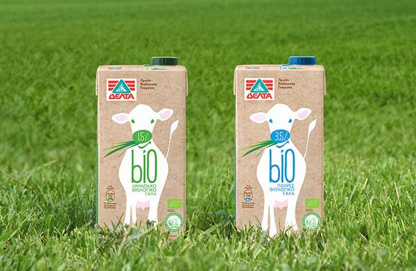 organic,milk,design,Greek design,spoondesign,spyros doukas,Dairy,cow illustration,bio,natural,tetra pak,kraft paper,innocence,semi-skimmed ,whole milk