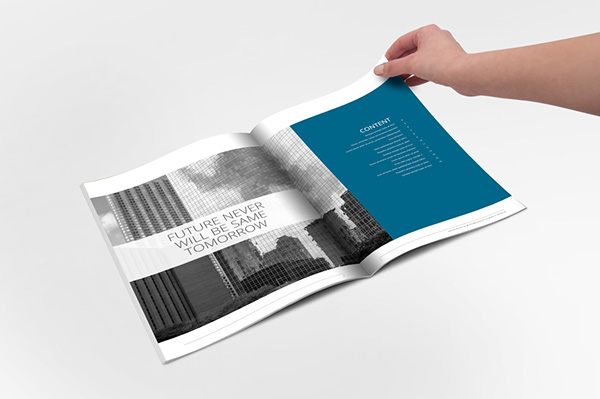 Report InDesign Template On Behance - Indesign template brochure