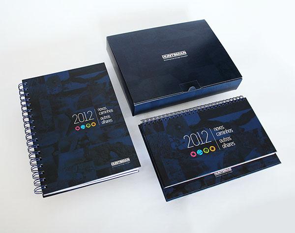 Calendar Notebook Design : Huntsman corporate kit on behance