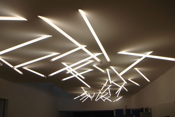 Polycarbonate stick light on behance - Office ceiling lamps ...
