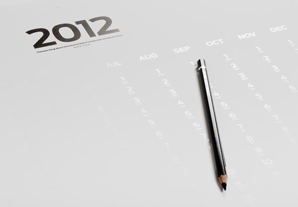 """BLANK"" poster calendar on Behance"