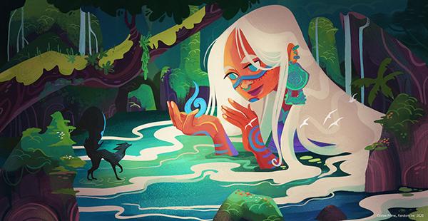 Water Goddess & Spirit| Book Illustrations