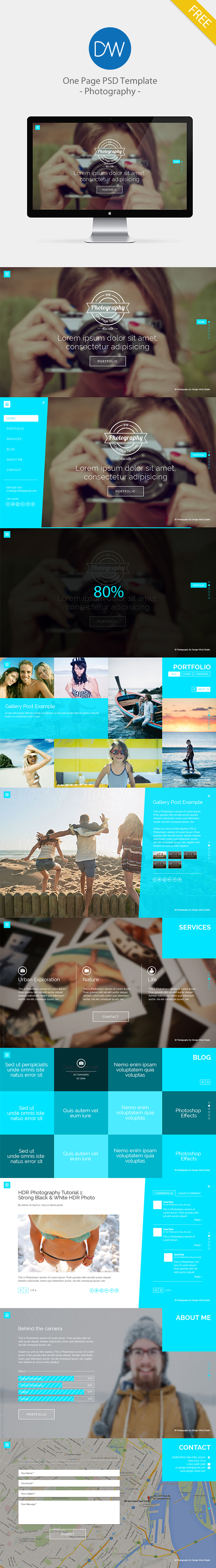 Blog business clean creative customizable fresh modern One Page