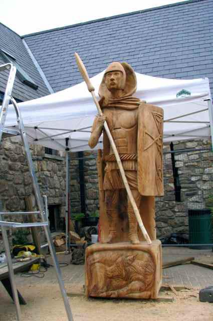 Chainsaw Sculpture Celtic