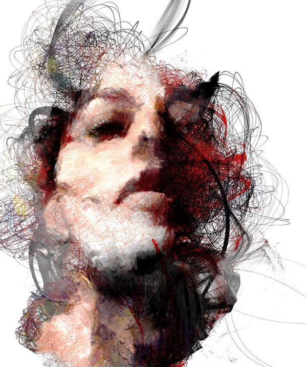 generative art  portrait  art  digital