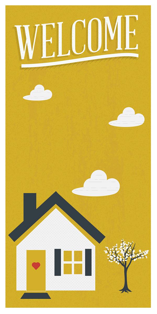 9f09642a5ab36 HOUSEWARMING INVITATIONS on Behance