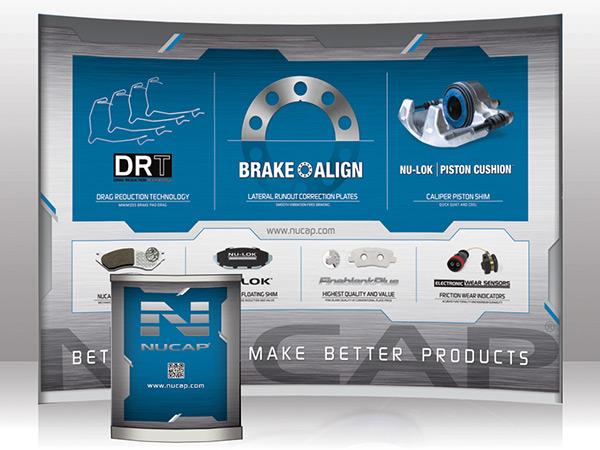 NUCAP Trade Show booth design Brake Pads aapex
