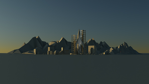 Low Poly Launch Pad Wallpaper On Behance
