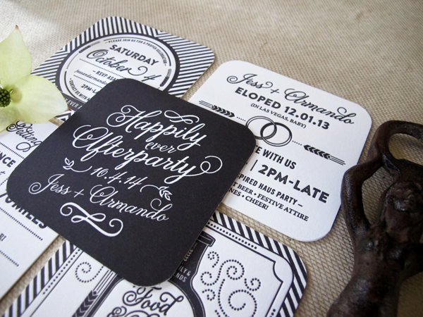 Happily Ever Afterparty Post Elopement Party Invites On Behance