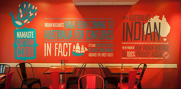 Adobe Portfolio indian India restaurant takeaway Rebrand brochure Signage Playful