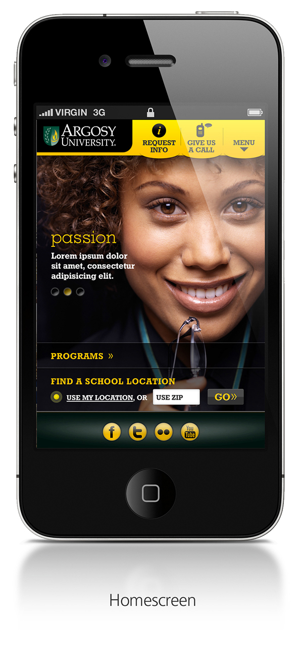 Argosy University - Mobile website