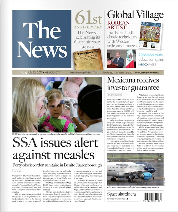 the news english language newspaper of reference for mexico city