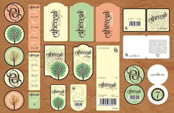 Design Clothing Labels Tags Clothing Brand and Tag System