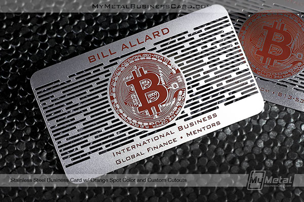 Metal Business Cards For Bitcoin Experts On Behance