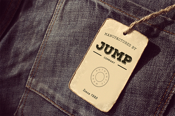 free clothing label mockup on behance