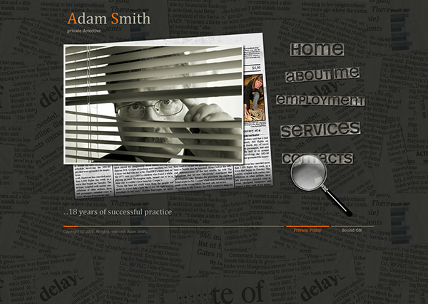 Private Detective Dynamic Flash Template on Behance