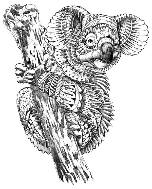 Coloring Pages Zentangle Animals : Free coloring pages of zentangle animals