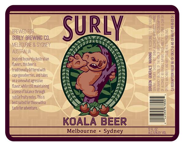 Surly Koala Beer on Behance