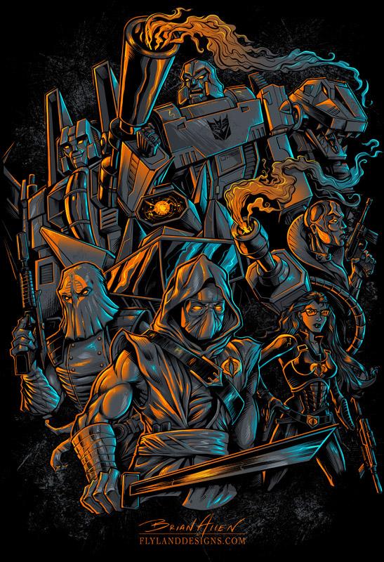 gi joe cobra trasformers 39 decepticons t shirt on behance. Black Bedroom Furniture Sets. Home Design Ideas
